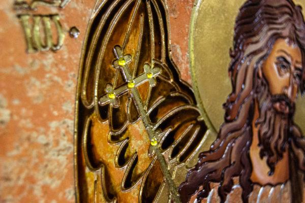 Икона Иоанна Крестителя (Иоанна Предтечи) № 01 из мрамора, магазин икон, изображение, фото 4