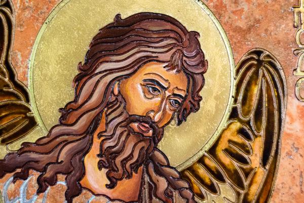 Икона Иоанна Крестителя (Иоанна Предтечи) № 01 из мрамора, магазин икон, изображение, фото 5