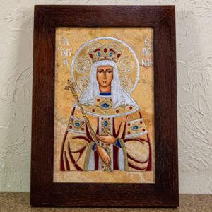 Икона Святой Елены № 01 из камня в Минске, каталог икон Гливи, фото 1