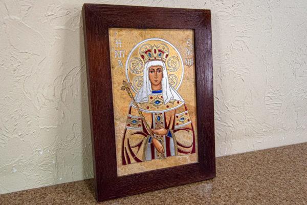 Икона Святой Елены № 01 из камня в Минске, каталог икон Гливи, фото 2