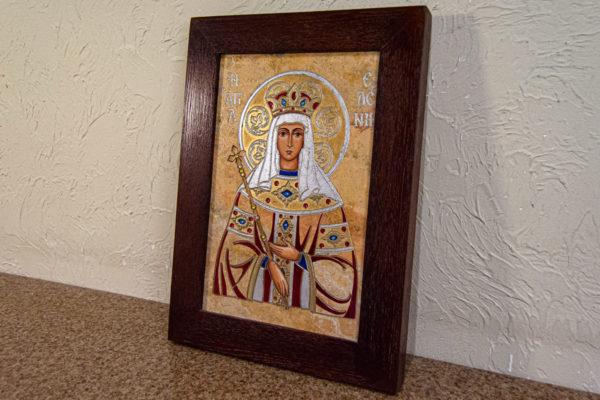 Икона Святой Елены № 01 из камня в Минске, каталог икон Гливи, фото 3