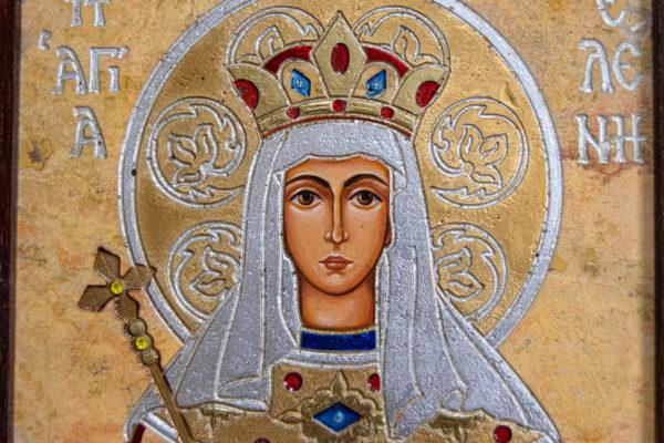 Икона Святой Елены № 01 из камня в Минске, каталог икон Гливи, фото 4