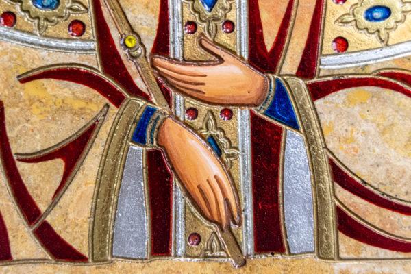 Икона Святой Елены № 01 из камня в Минске, каталог икон Гливи, фото 5