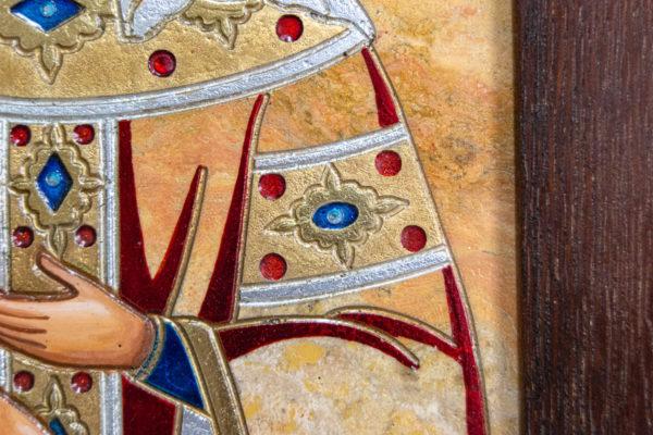 Икона Святой Елены № 01 из камня в Минске, каталог икон Гливи, фото 6