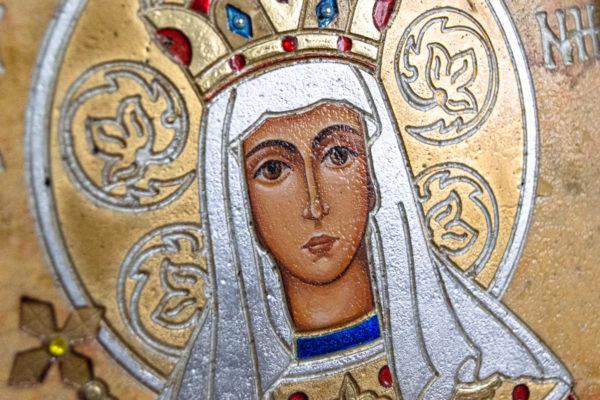 Икона Святой Елены № 01 из камня в Минске, каталог икон Гливи, фото 7
