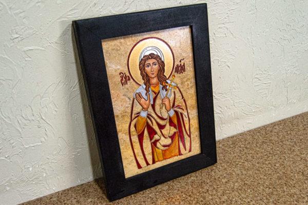 Икона Святой Ариадны № 01 из мрамора, интернет магазин икон, изображение, фото 7