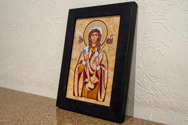 Икона Святой Ариадны № 01 из мрамора, интернет магазин икон, изображение, фото 8