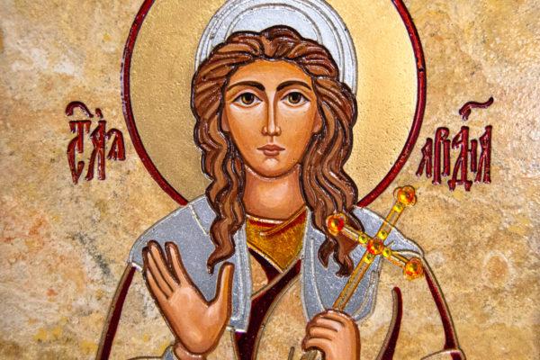 Икона Святой Ариадны № 01 из мрамора, интернет магазин икон, изображение, фото 9