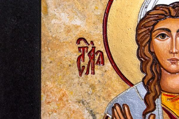 Икона Святой Ариадны № 01 из мрамора, интернет магазин икон, изображение, фото 4