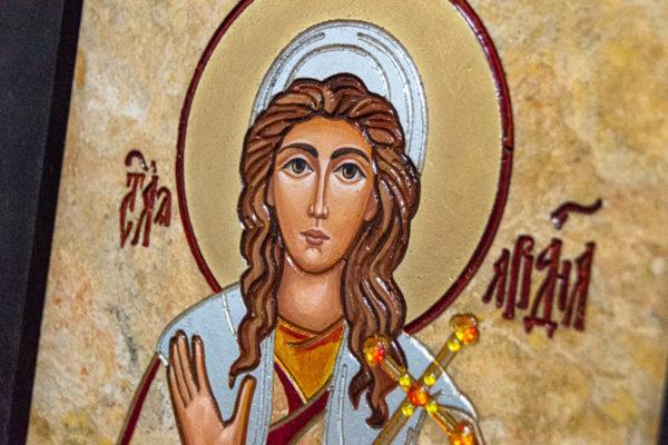 Икона Святой Ариадны № 01 из мрамора, интернет магазин икон, изображение, фото 2