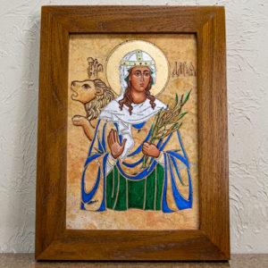 Икона Святой Дарьи Римской № 01 из мрамора, интернет магазин икон, изображение, фото 1