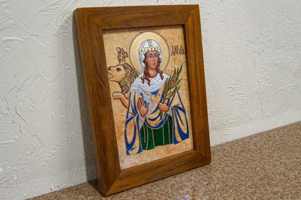 Икона Святой Дарьи Римской № 01 из мрамора, интернет магазин икон, изображение, фото 2