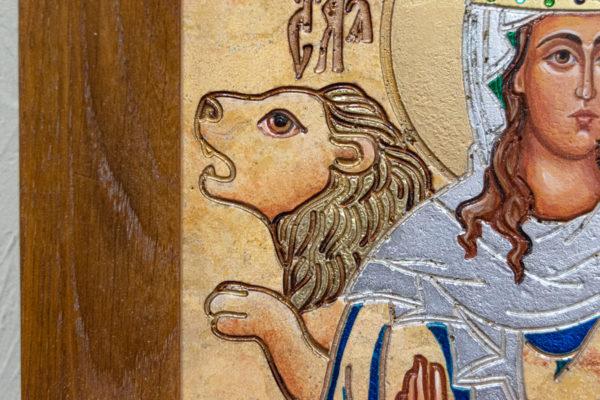 Икона Святой Дарьи Римской № 01 из мрамора, интернет магазин икон, изображение, фото 6