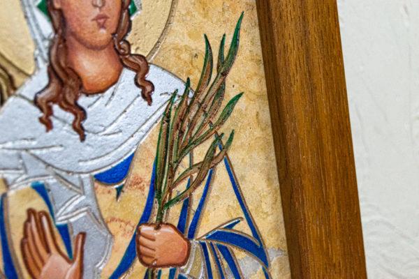Икона Святой Дарьи Римской № 01 из мрамора, интернет магазин икон, изображение, фото 7