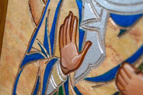 Икона Святой Дарьи Римской № 01 из мрамора, интернет магазин икон, изображение, фото 8
