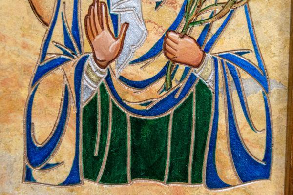 Икона Святой Дарьи Римской № 01 из мрамора, интернет магазин икон, изображение, фото 9