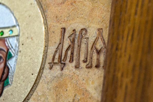 Икона Святой Дарьи Римской № 01 из мрамора, интернет магазин икон, изображение, фото 12