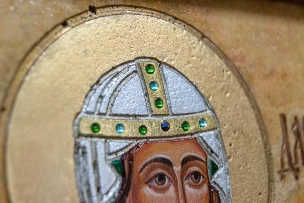 Икона Святой Дарьи Римской № 01 из мрамора, интернет магазин икон, изображение, фото 13
