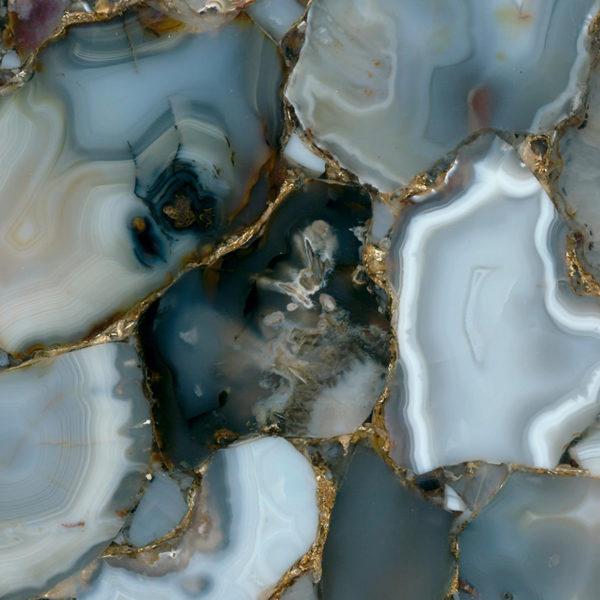 Натуральный камень, Полудрагоценный камень Agate Rubane Gold, фото 1