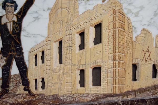 Каменная Картина Оммаж духовному дому отца Шагала № 01, изображение, фото 8