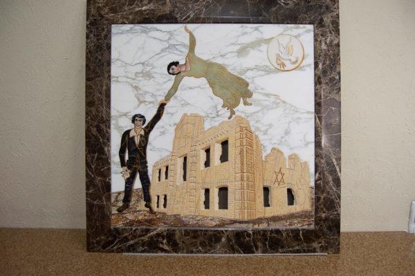 Каменная Картина Оммаж духовному дому отца Шагала № 01, изображение, фото 15