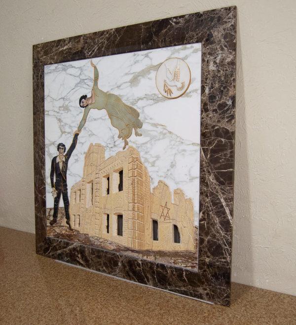 Каменная Картина Оммаж духовному дому отца Шагала № 01, изображение, фото 16