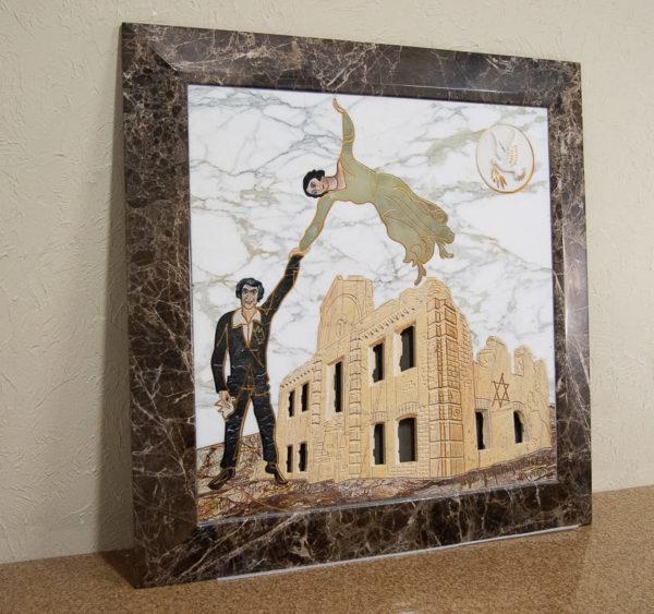 Каменная Картина Оммаж духовному дому отца Шагала № 01, изображение, фото 18