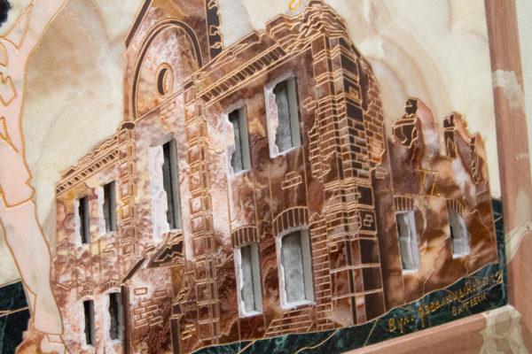 Каменная Картина Оммаж духовному дому отца Шагала № 02, изображение, фото 3