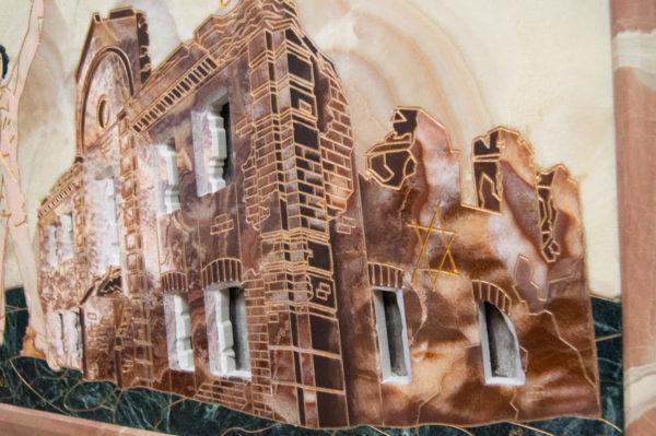 Каменная Картина Оммаж духовному дому отца Шагала № 02, изображение, фото 4