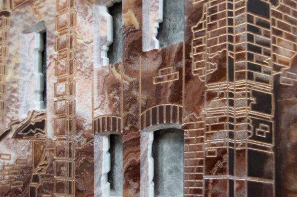 Каменная Картина Оммаж духовному дому отца Шагала № 02, изображение, фото 8