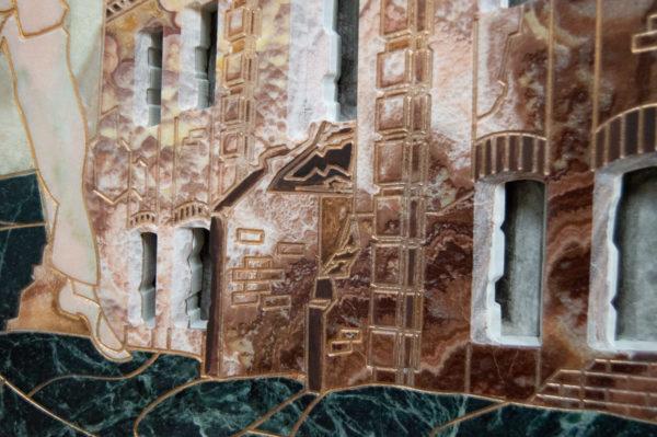 Каменная Картина Оммаж духовному дому отца Шагала № 02, изображение, фото 10