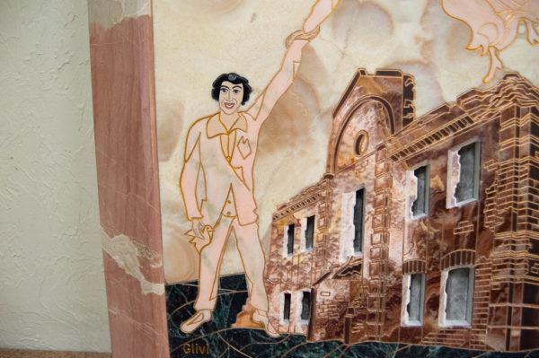 Каменная Картина Оммаж духовному дому отца Шагала № 02, изображение, фото 15
