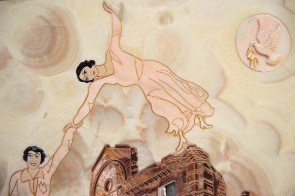 Каменная Картина Оммаж духовному дому отца Шагала № 02, изображение, фото 16