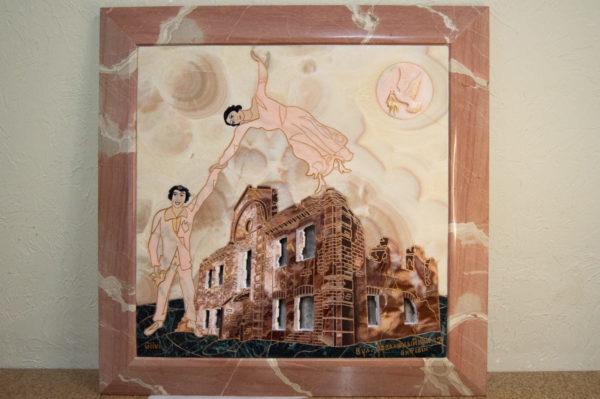 Каменная Картина Оммаж духовному дому отца Шагала № 02, изображение, фото 17
