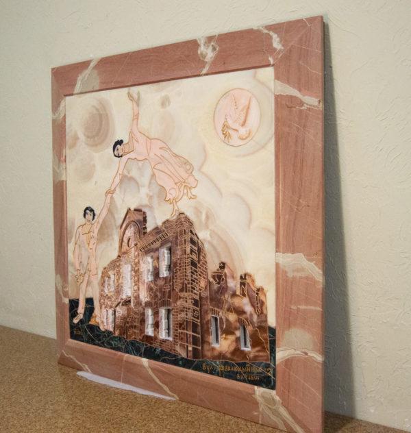 Каменная Картина Оммаж духовному дому отца Шагала № 02, изображение, фото 18