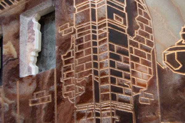 Каменная Картина Оммаж духовному дому отца Шагала № 02, изображение, фото 20