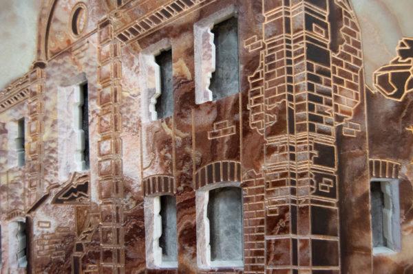 Каменная Картина Оммаж духовному дому отца Шагала № 02, изображение, фото 21