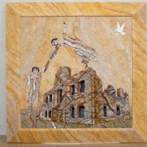 Каменная Картина Оммаж духовному дому отца Шагала № 03, изображение, фото 1