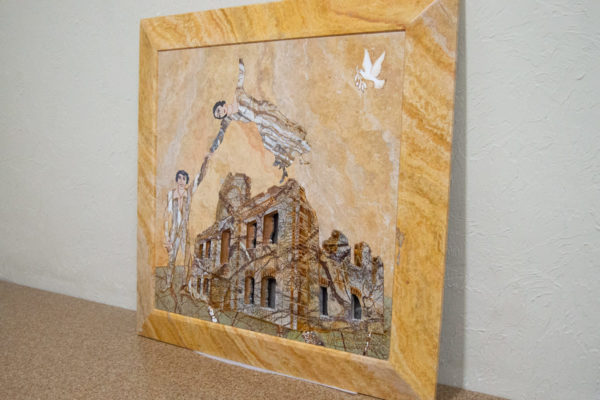Каменная Картина Оммаж духовному дому отца Шагала № 03, изображение, фото 2