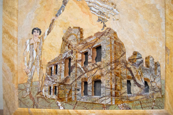 Каменная Картина Оммаж духовному дому отца Шагала № 03, изображение, фото 3