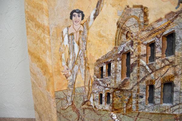 Каменная Картина Оммаж духовному дому отца Шагала № 03, изображение, фото 4