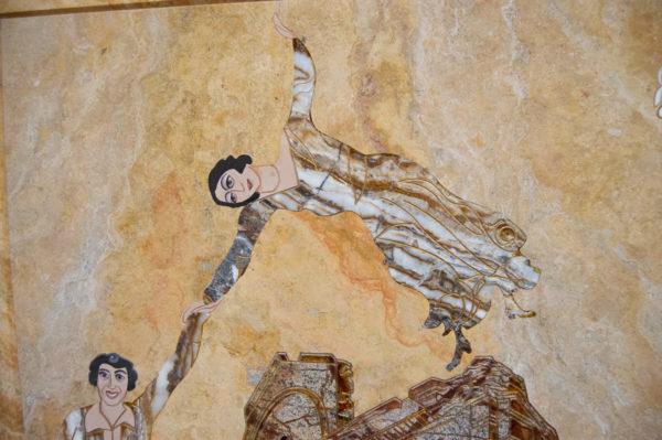 Каменная Картина Оммаж духовному дому отца Шагала № 03, изображение, фото 5