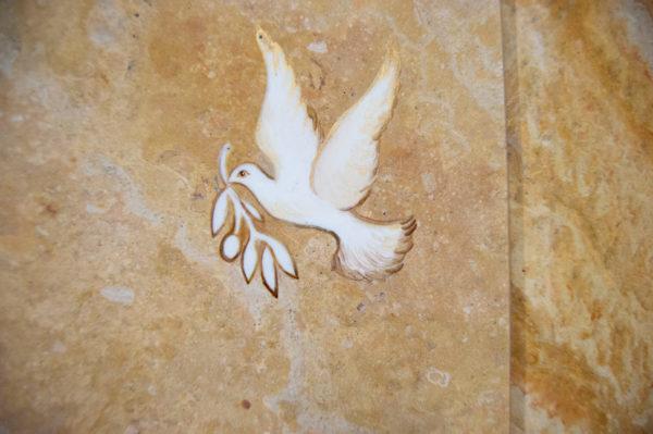 Каменная Картина Оммаж духовному дому отца Шагала № 03, изображение, фото 6