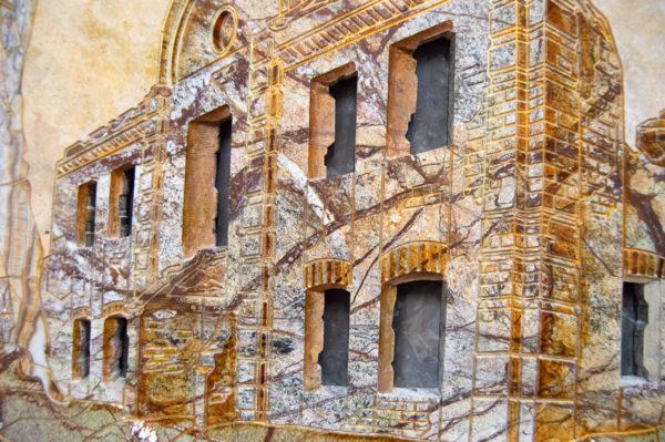 Каменная Картина Оммаж духовному дому отца Шагала № 03, изображение, фото 9