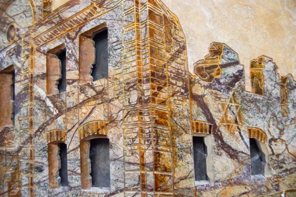 Каменная Картина Оммаж духовному дому отца Шагала № 03, изображение, фото 13