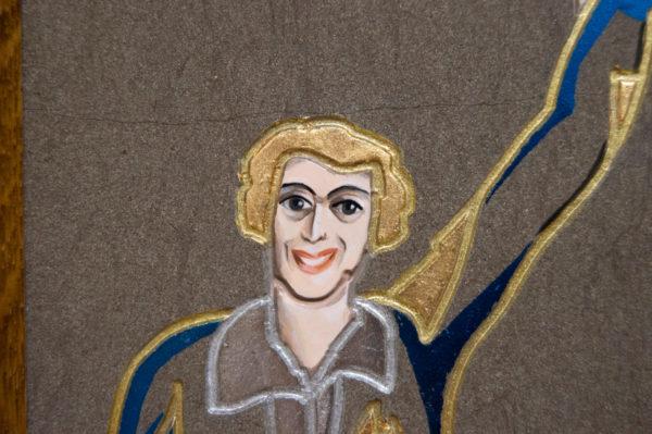 Каменная Картина Оммаж духовному дому отца Шагала № 01 (гравированная), изображение, фото 1