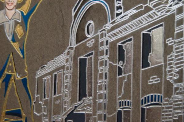 Каменная Картина Оммаж духовному дому отца Шагала № 01 (гравированная), изображение, фото 4