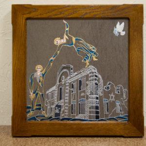 Каменная Картина Оммаж духовному дому отца Шагала № 01 (гравированная), изображение, фото 5