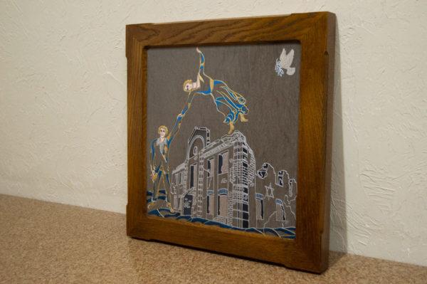 Каменная Картина Оммаж духовному дому отца Шагала № 01 (гравированная), изображение, фото 6