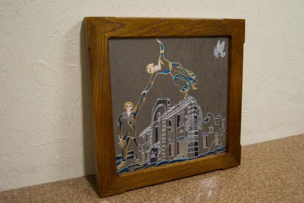 Каменная Картина Оммаж духовному дому отца Шагала № 01 (гравированная), изображение, фото 7